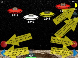 Arithmatic Invaders game screen