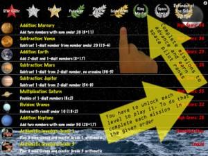 arithmatic invaders grade 2 menu