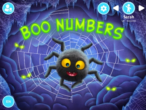 Boo Numbers main screen